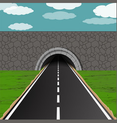 Tunnel with road vector