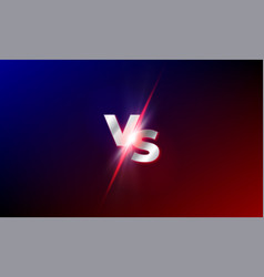vs versus background red and blue mma fight vector image