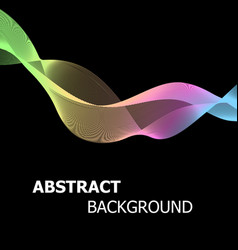 Abstract background with colourful pastel line vector