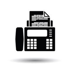 Fax icon vector