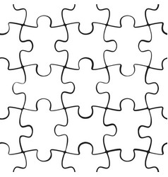puzzle jigsaw seamless pattern vector image vector image