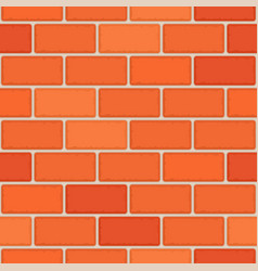 red brick wall seamless vector image