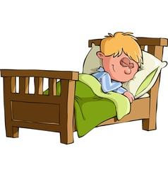 boy sleeps vector image vector image