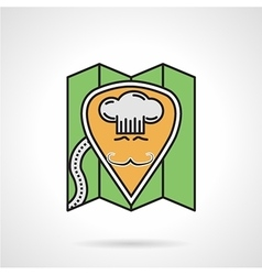 Cafe location flat color icon vector image