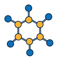 chemical molecule icon vector image vector image