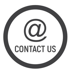 email address line icon contact us and website vector image vector image