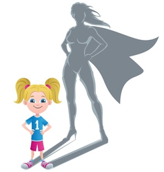 Girl Superheroine Concept 2 vector image vector image