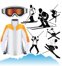 ski objects vector image