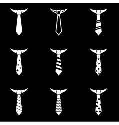 black tie icon set vector image