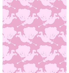 Cupid seamless pattern Romantic background of vector image