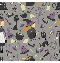 Halloween pattern 02 vector image