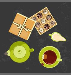 menu for tea time vector image