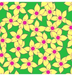 Seamless flower pattern background vector image vector image