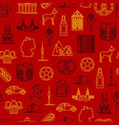 symbol of germany thin line seamless pattern vector image vector image