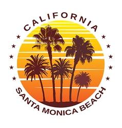 Travel Background for Santa Monica California vector image vector image