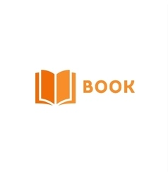 Book page icon logo orange style flat vector image