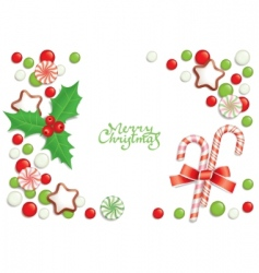 Christmas candy background vector image vector image