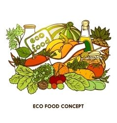 Hand Drawn Eco Food Concept vector image