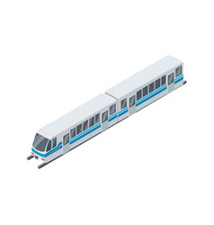 modern train isolated isometric 3d icon vector image
