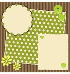 scrap book layout vector image vector image