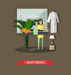Spa body treatment body wraps concept vector