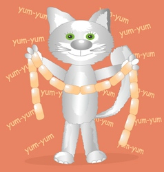 the cat vector image