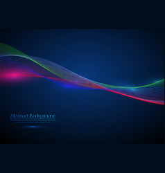 abstract background flowing particle waves vector image