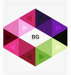 abstract colorful triangle repetition vector image vector image