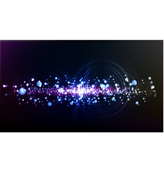 abstract technological illuminated wave background vector image