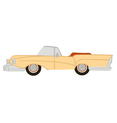 american vintage or retro car with no ro vector image