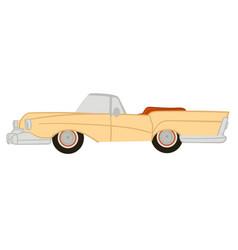 american vintage or retro car with no ro vector image