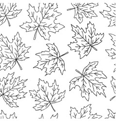 beautiful seamless doodle pattern with black and vector image