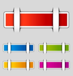 Blank attached rectangle labels vector