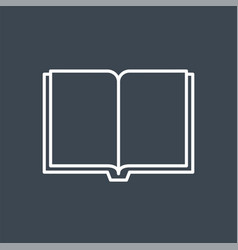book related thin line icon vector image