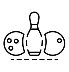 bowling equipment icon outline style vector image