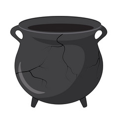 broken cauldron pot design isolated on white vector image