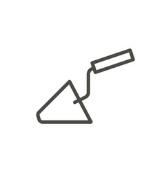 build trowel icon outline building line r vector image