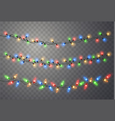 Christmas lights string vector