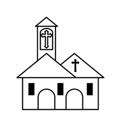 church building isolated icon vector image
