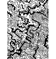coloring page abstract pattern maze ornaments vector image