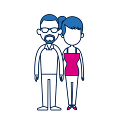 couple people relationship together character vector image