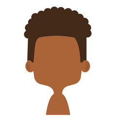 cute and little african boy shirtless vector image