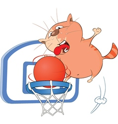 Cute Cat Basketball Player vector