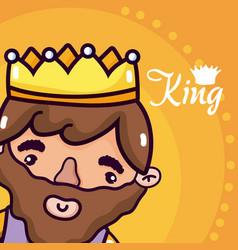 cute king cartoon vector image