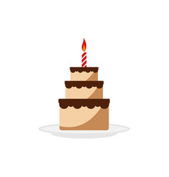 delicious cake birthday graphic design element vector image