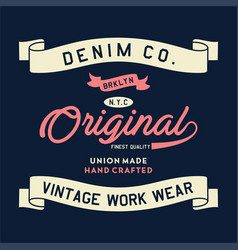 denim brooklyn original vector image