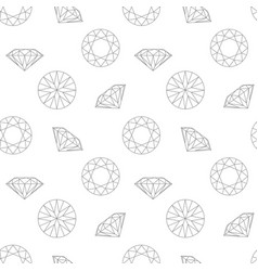 diamond concept seamless pattern fashion style vector image