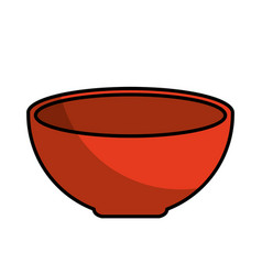 dish food isolated icon vector image