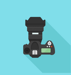 Dslr photo camera flat style vector