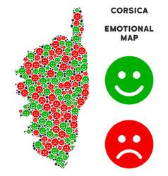 Emotional corsica france island map mosaic vector
